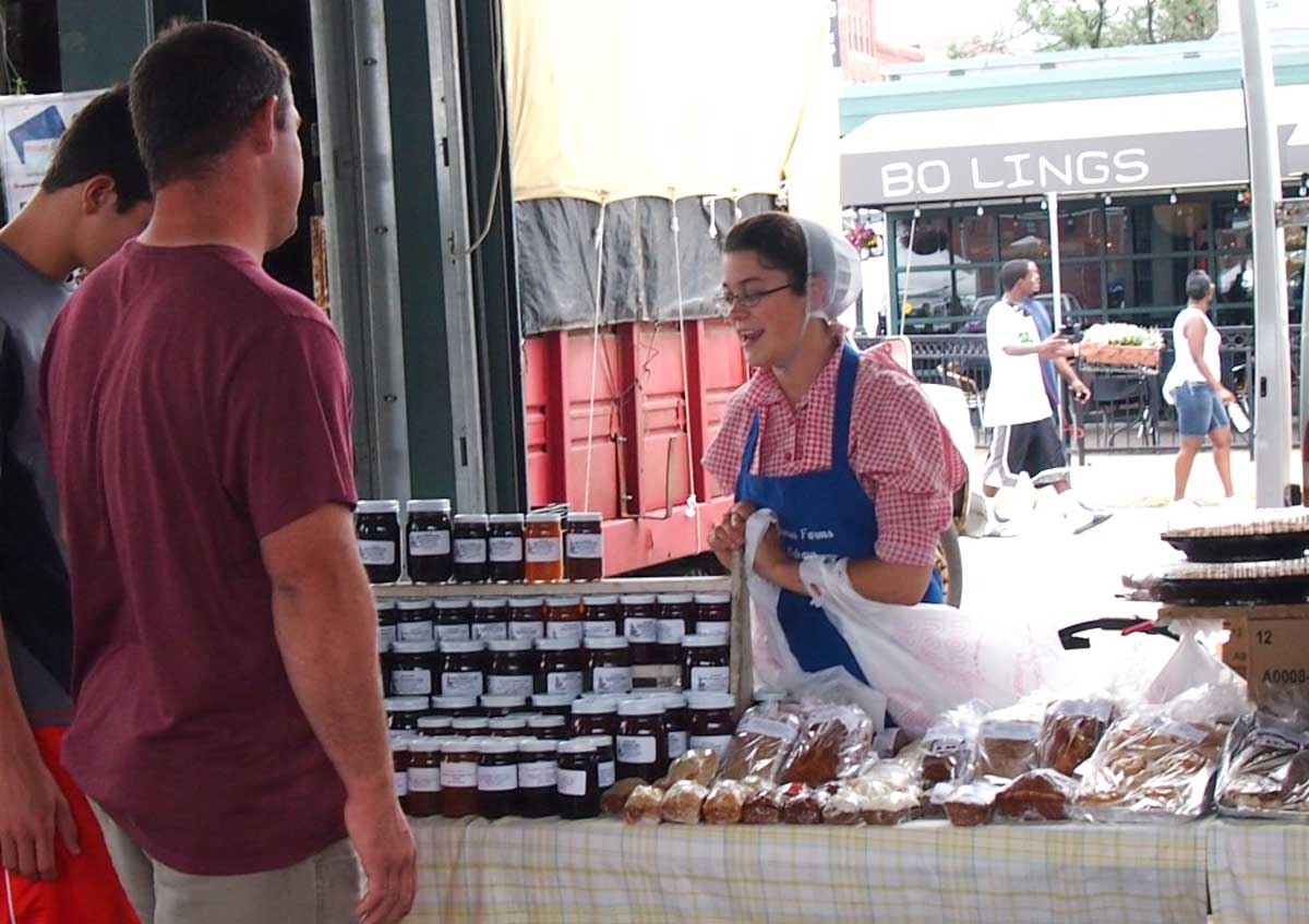 My cousin Alissa at the City Market in 2013.