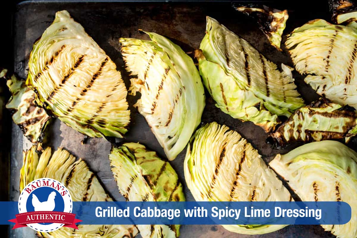 Cabbage Wedges on the Grill