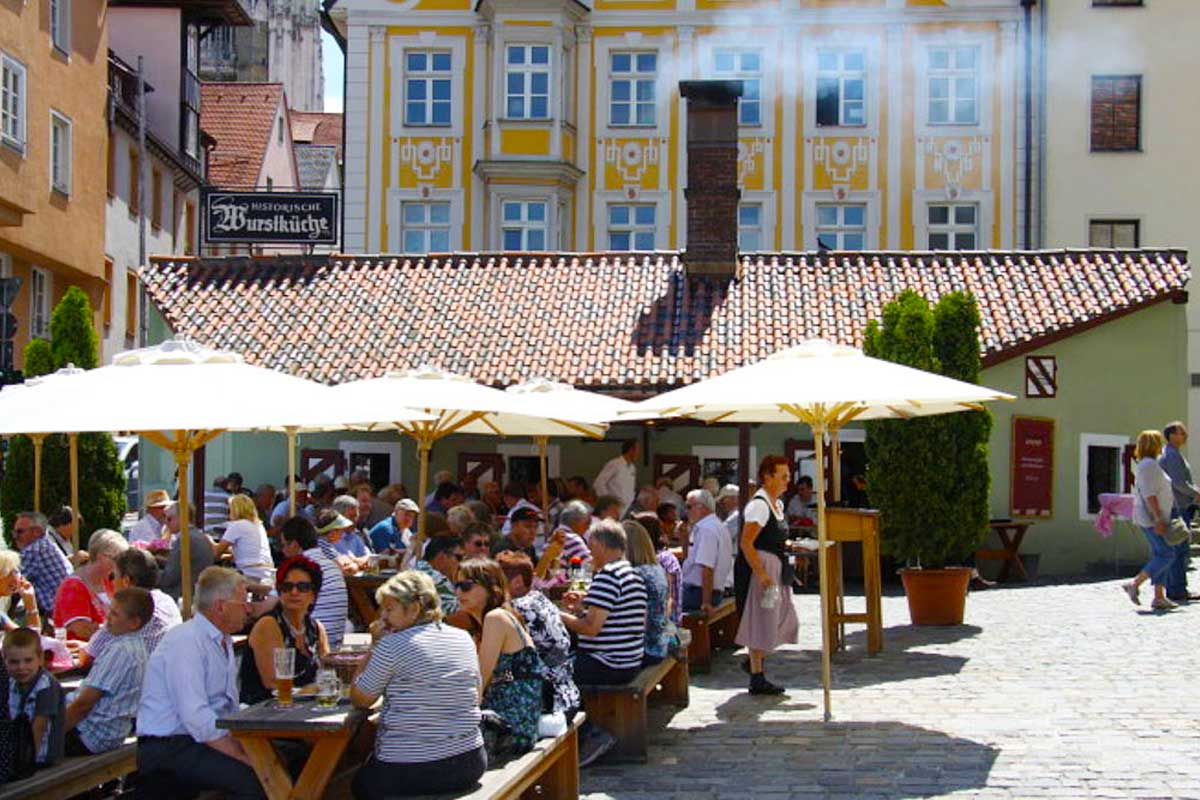 Regensburg Germany's Wurstkuche (Sausage Kitchen)