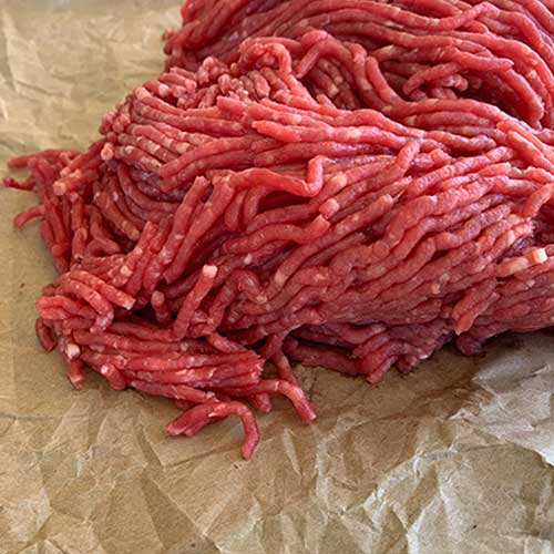 Bauman's Authentic 100% grassfed and finished Ground Beef is 90% lean