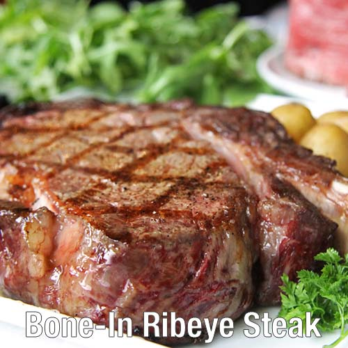 Bauman's Beef Bone-In Ribeye Steak