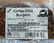 Bauman's Authentic grassfed and finished Beef Coffee-Chili Burgers