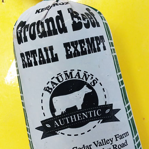New packaging for 1 pound grassfed and grass-finished ground beef