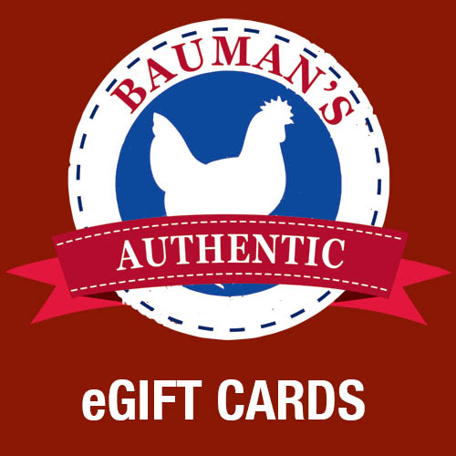 Bauman's e Gift Cards now available