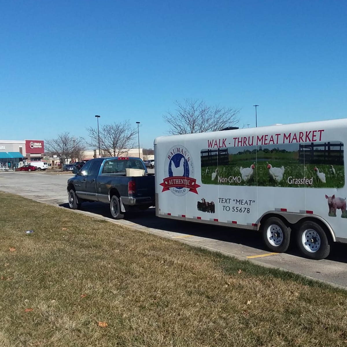 Bauman's Mobile Meat Market is in Lawrence, Kansas every other Thursday from 12:30-1:30 PM at 33rd and Iowa Streets