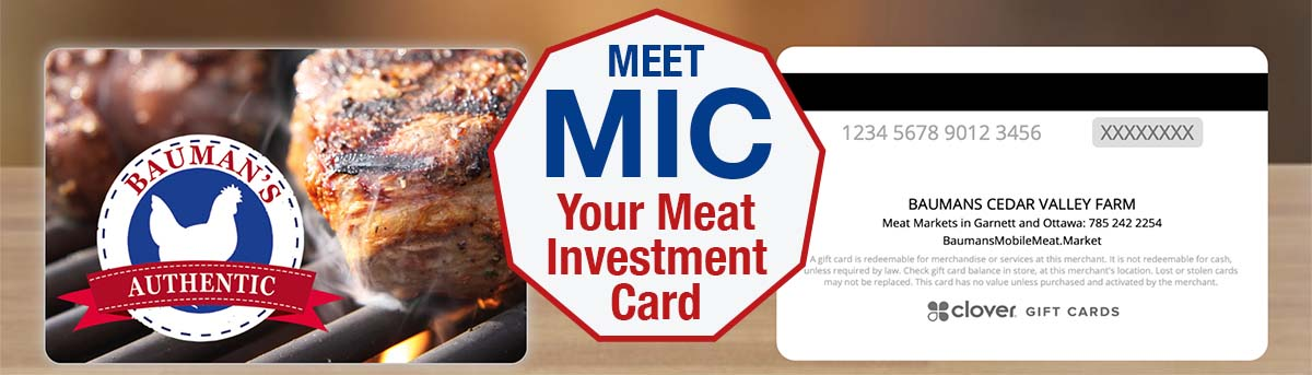 Meet MIC, your Meat Investment Card