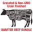 Grassfed and NON-GMO GRAIN-finished Quarter Beef Bundle