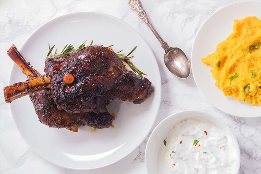 SLOW BRAISED LAMB SHANKS from Cooking Maniac by Ann
