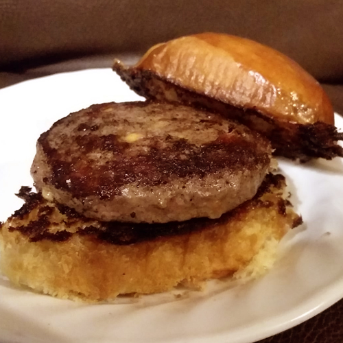 Bauman's Authentic grassfed and finished Beef Bacon Cheddar Sliders