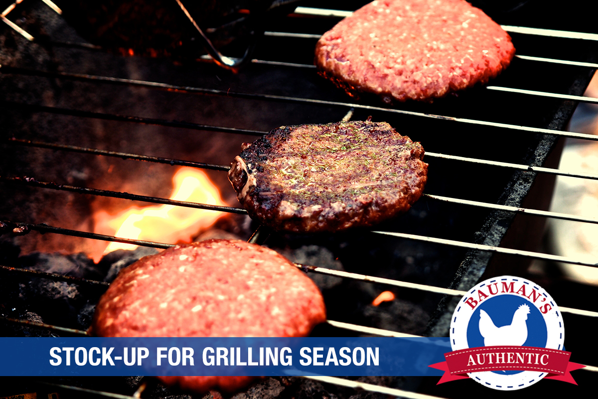Stock up on Bauman's Authentic Burgers