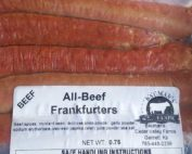 Bauman's Authentic 100% Grassfed and Dry Aged Beef Frankfurters