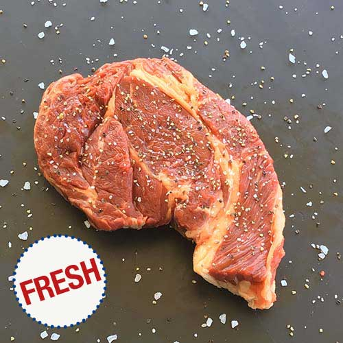 FRESH CHUCK EYE Next door neighbor of the rib-eye, our Chuck Eye Steak is a flavorful, sleeper steak great for quick grilling over high heat.
